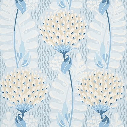 Thibaut Tiverton Wallpaper in Spa Blue